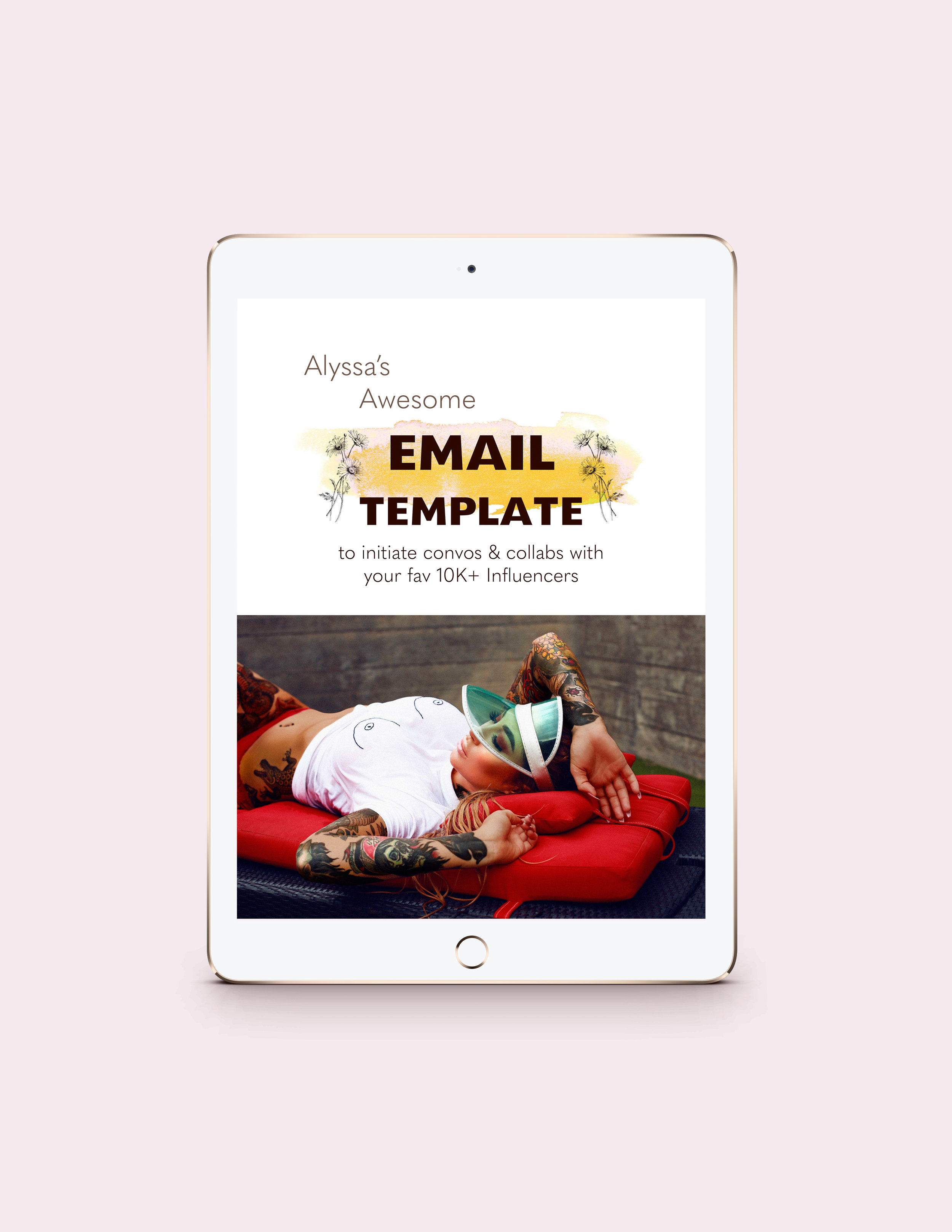 Awesome Email Template - To make contact with your FAV 10K+ Influencer!