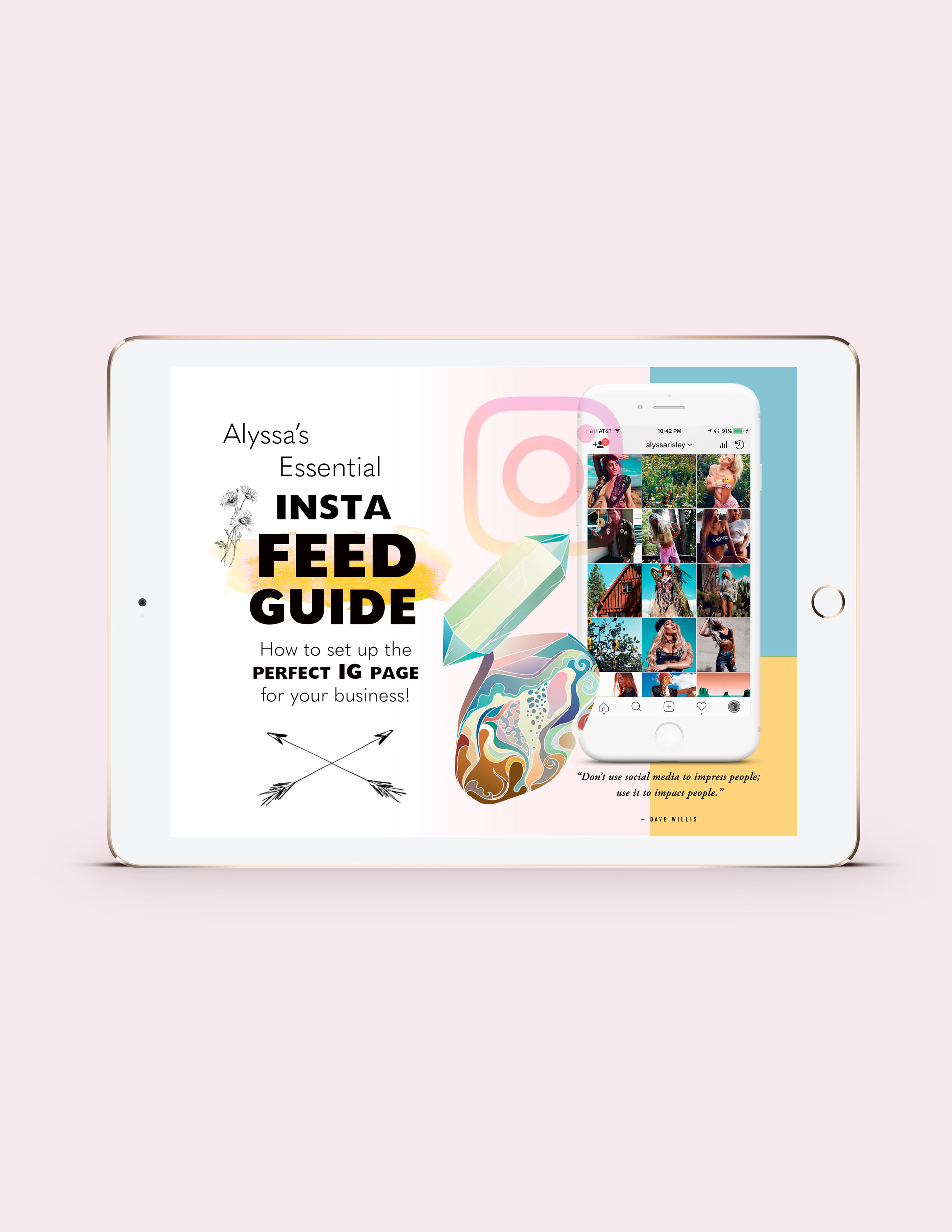 Alyssa's Insta Feed Guide - The Essential Roadmap for Setting Up the Perfect IG Page for your Business!