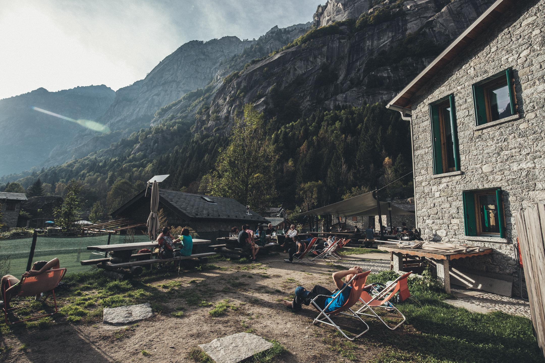 Klassisk italiensk after climb på rifugio Luna nascente