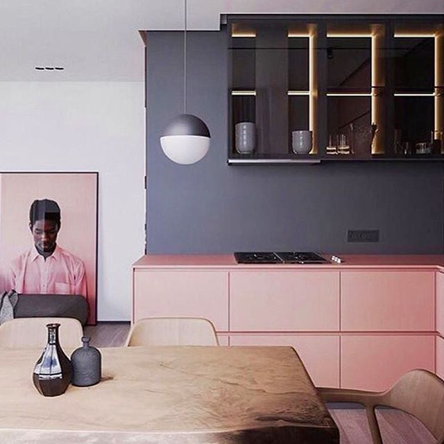 Kitchens that make me blush 😊 . . . . #kitchendesign #pinkandblack #custommillwork #kitchen #interiordesign #interiors #kitchenart #kitchenremodel #pinkmillwork #contemporarydesign #glamdesign #formwest