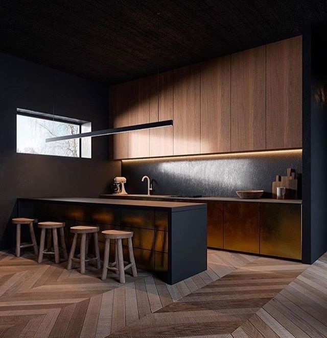 MOOD 🖤 . . . . #kitchendesign #kitchen #interiordesign #interiors #contemporarydesign #herringbone #darkkitchen #masculinekitchen #formwest #formwestinteriors