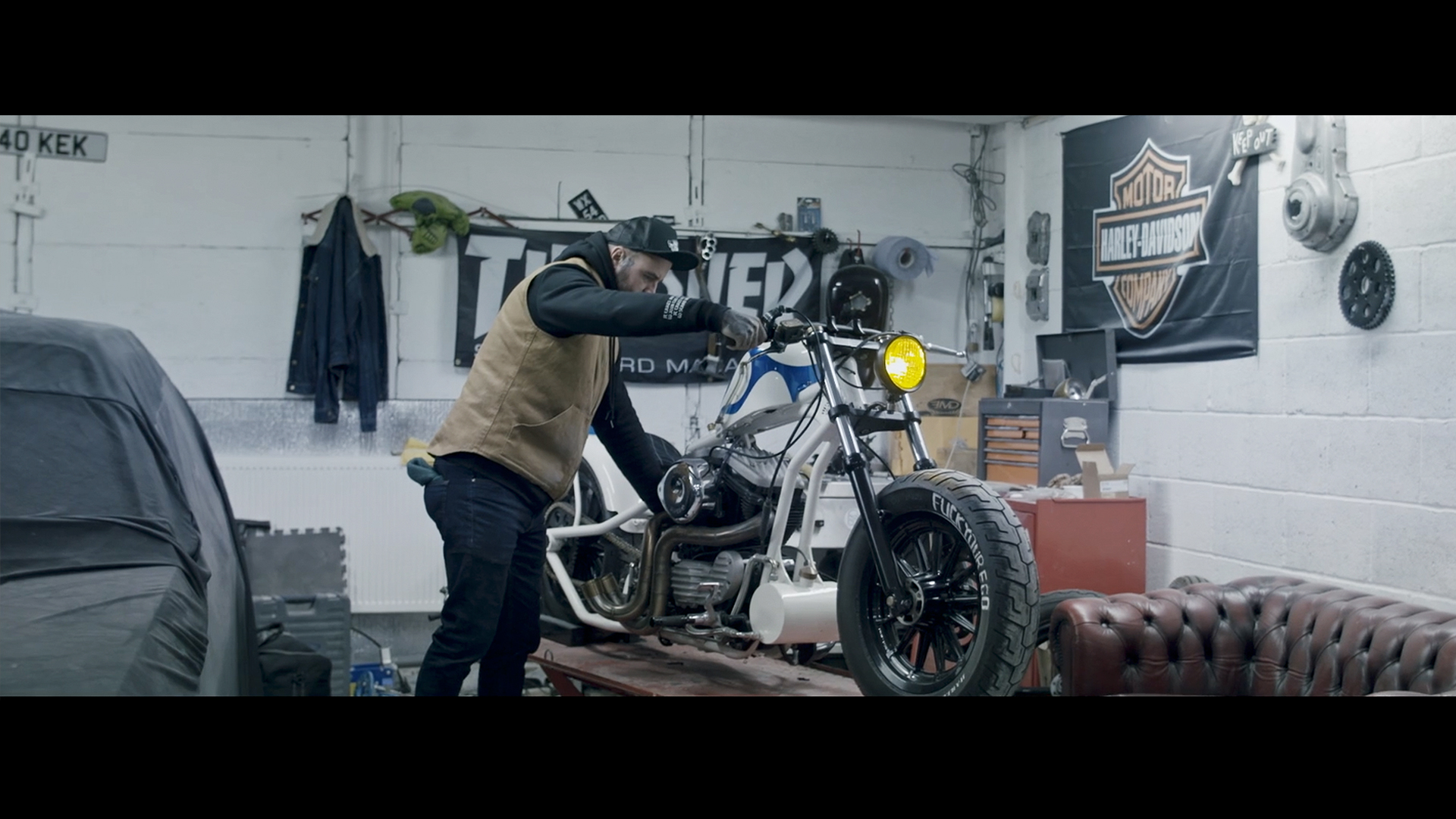 Harley Davison Iron Sportster 883 Video Production North East England Barbers Corporate Video