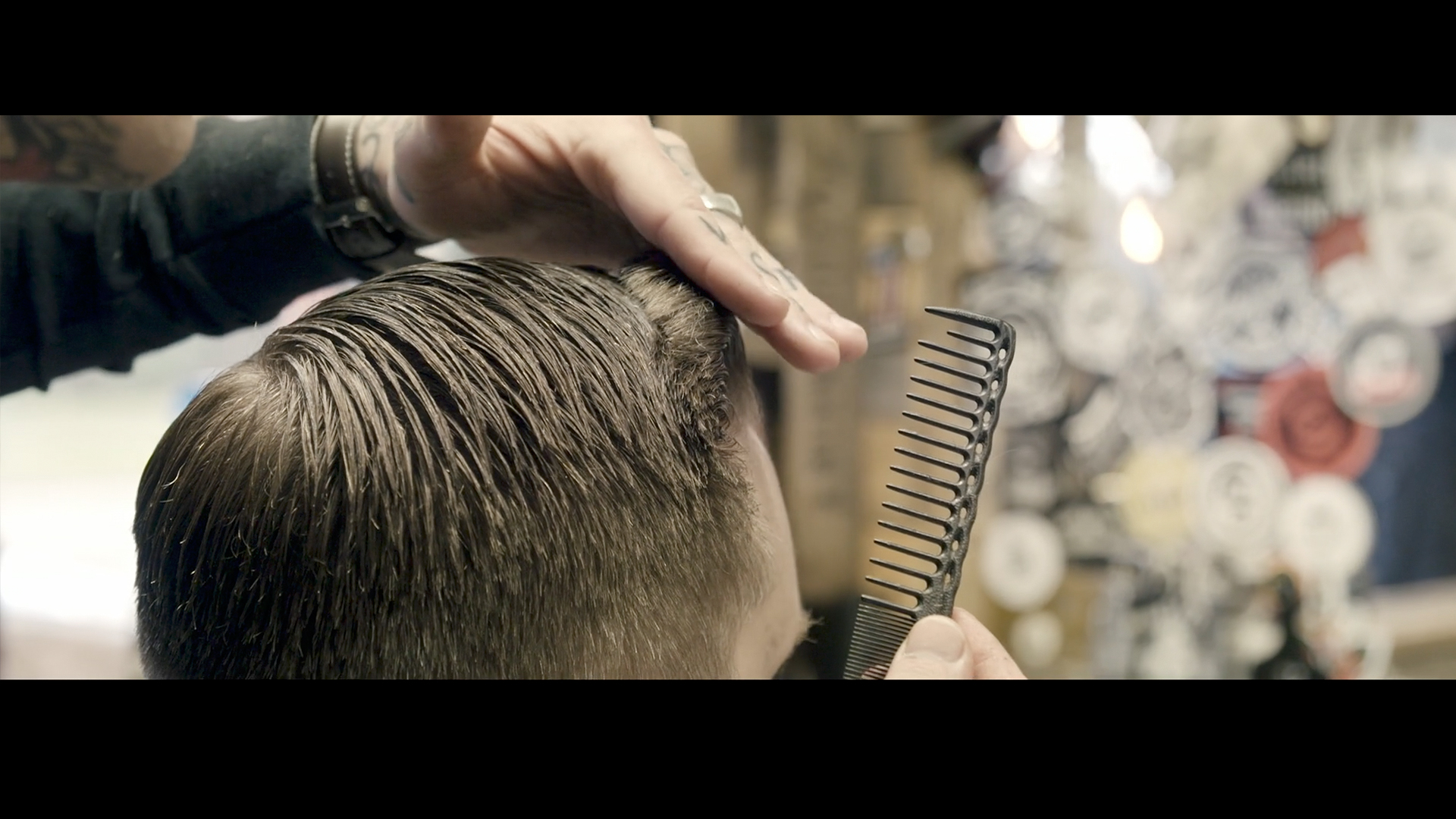 Harley Davison Iron Sportster 883 Video Production North East England Barbers Corporate Video Haircut Uppercut Pomade