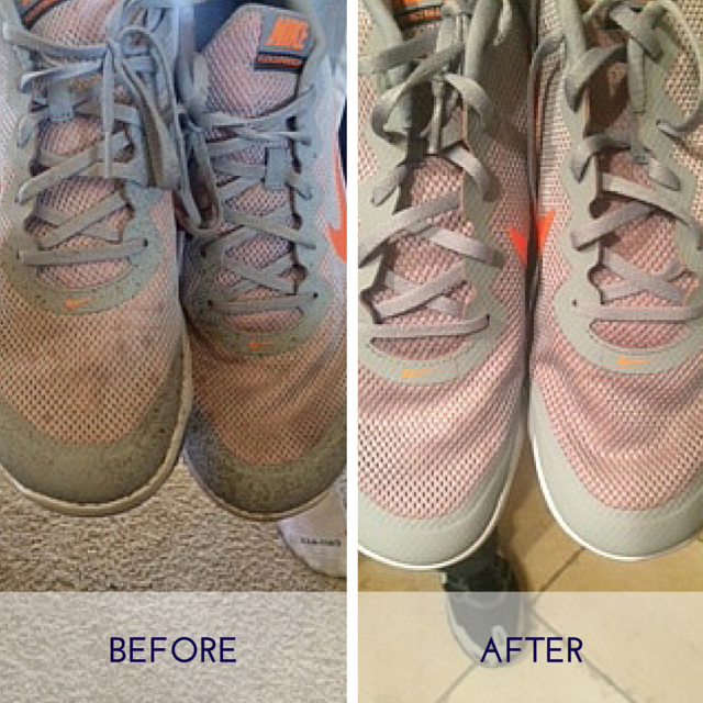 Clean Mystery Stains on Tennis Shoes