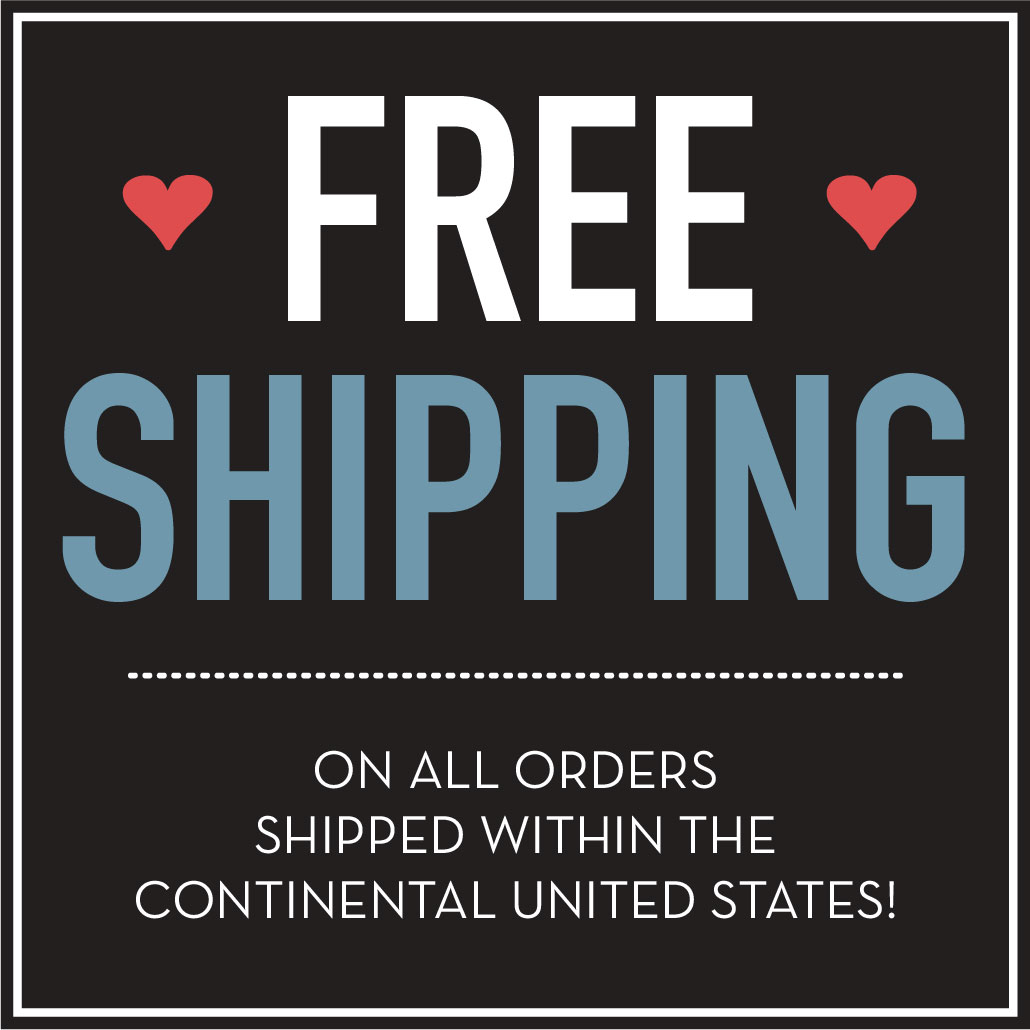 All items available with FREE SHIPPING!