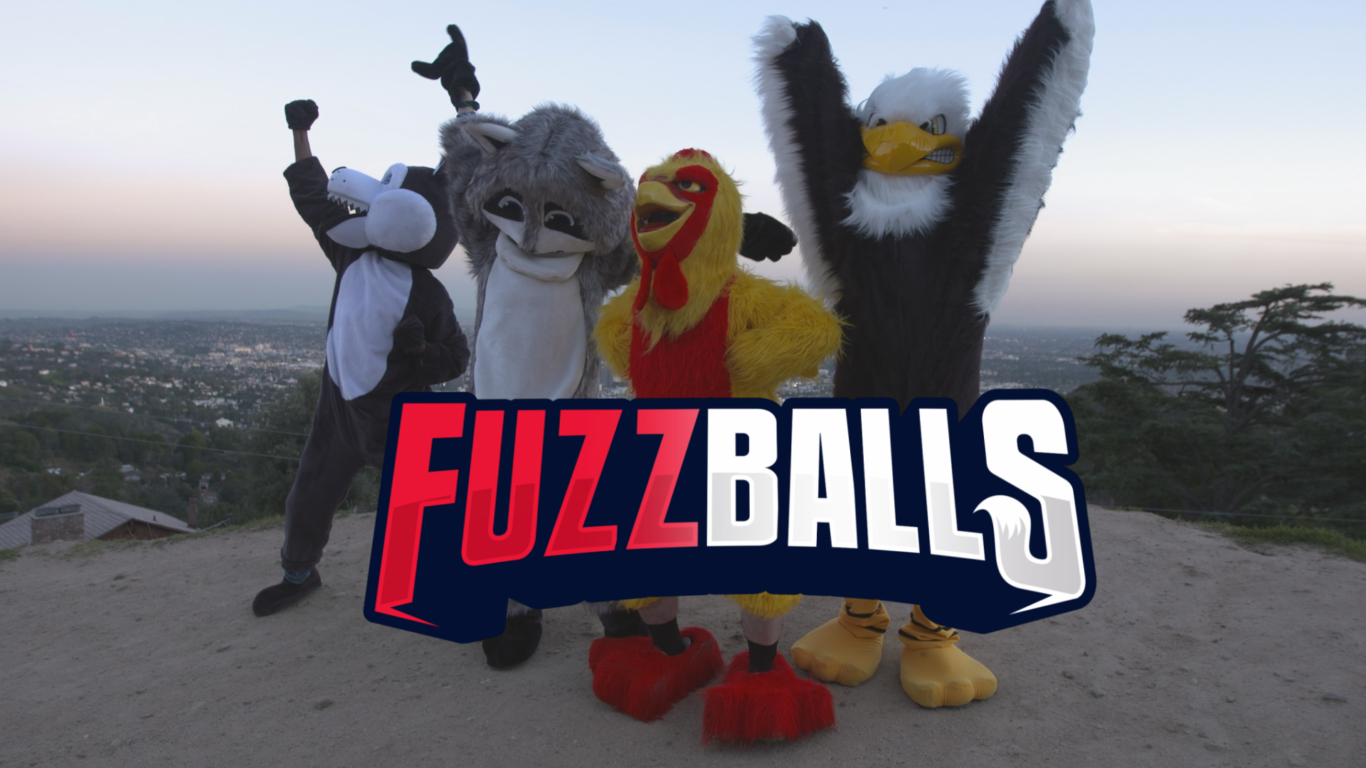 "FUZZ BALLS  (FACEBOOK)  From the dawn of time, humans have been messing with animals. Now its time for humans in animal costumes to mess with humans! In the series ""Fuzz Balls,"" a team of social media pranksters dress as animals and challenge one another in hidden camera segments to mess with humans. At the end of each episode, the losing prankster faces a humiliating punishment. Ten ten-minute episodes aired in April 2019 on Facebook Watch."