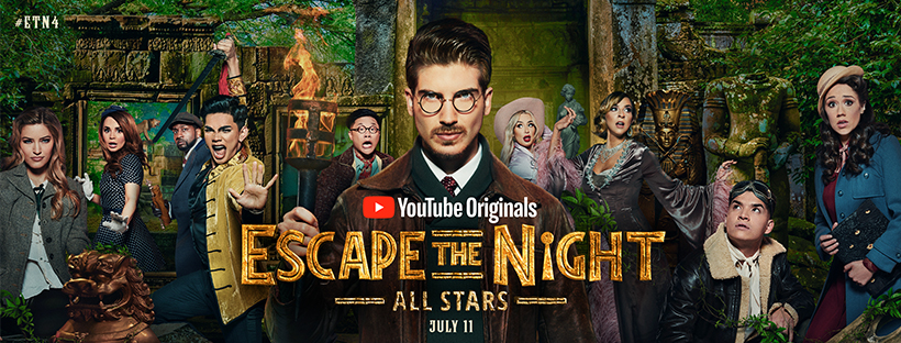 ESCAPE THE NIGHT: SEASONS 1 - 4 (YOUTUBE ORIGINALS) - Welcome to ESCAPE THE NIGHT, a surreality competition elimination series starring YouTube star and New York Times best-selling author, Joey Graceffa. In each season, 10 guests are invited from the modern world to conquer a new evil villain in a new time era. In 2016, ESCAPE THE NIGHT Season 1 won a Streamy award for