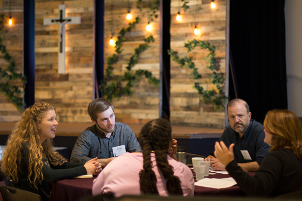 These groups become small Christian communities where weekly spiritual encouragement, accountability, and personal sharing builds bonds as brothers and sisters in Christ.