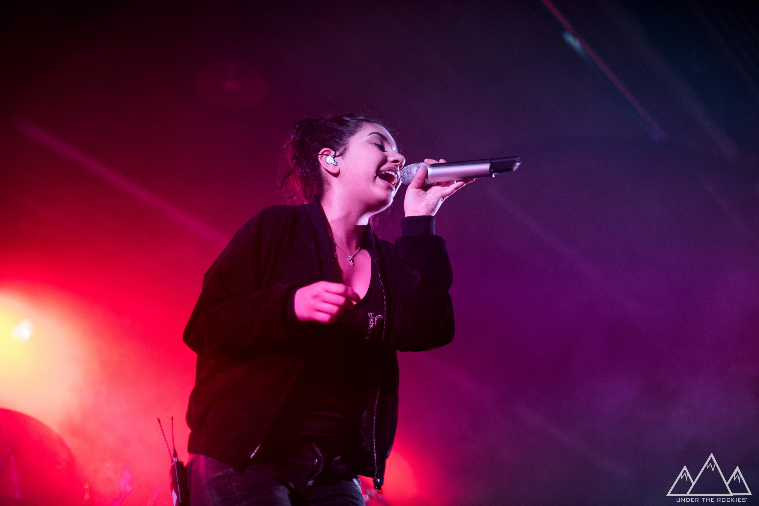 Alessia Cara performing at MacEwan Ballroom