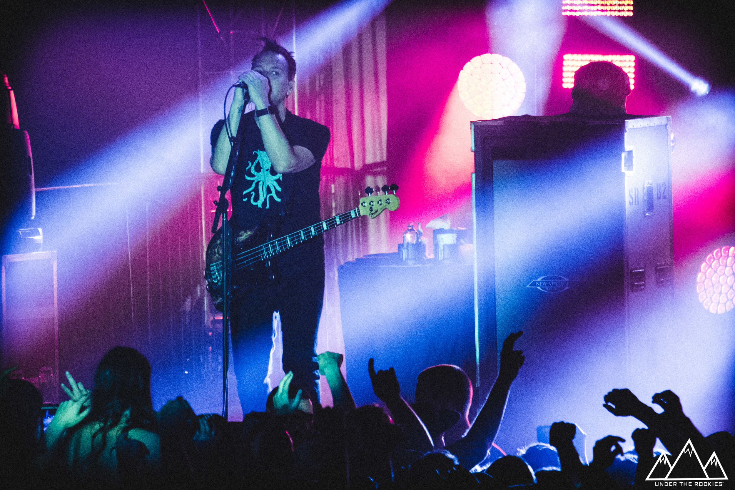 Mark Hoppus of Blink 182 performing at Cowboys.