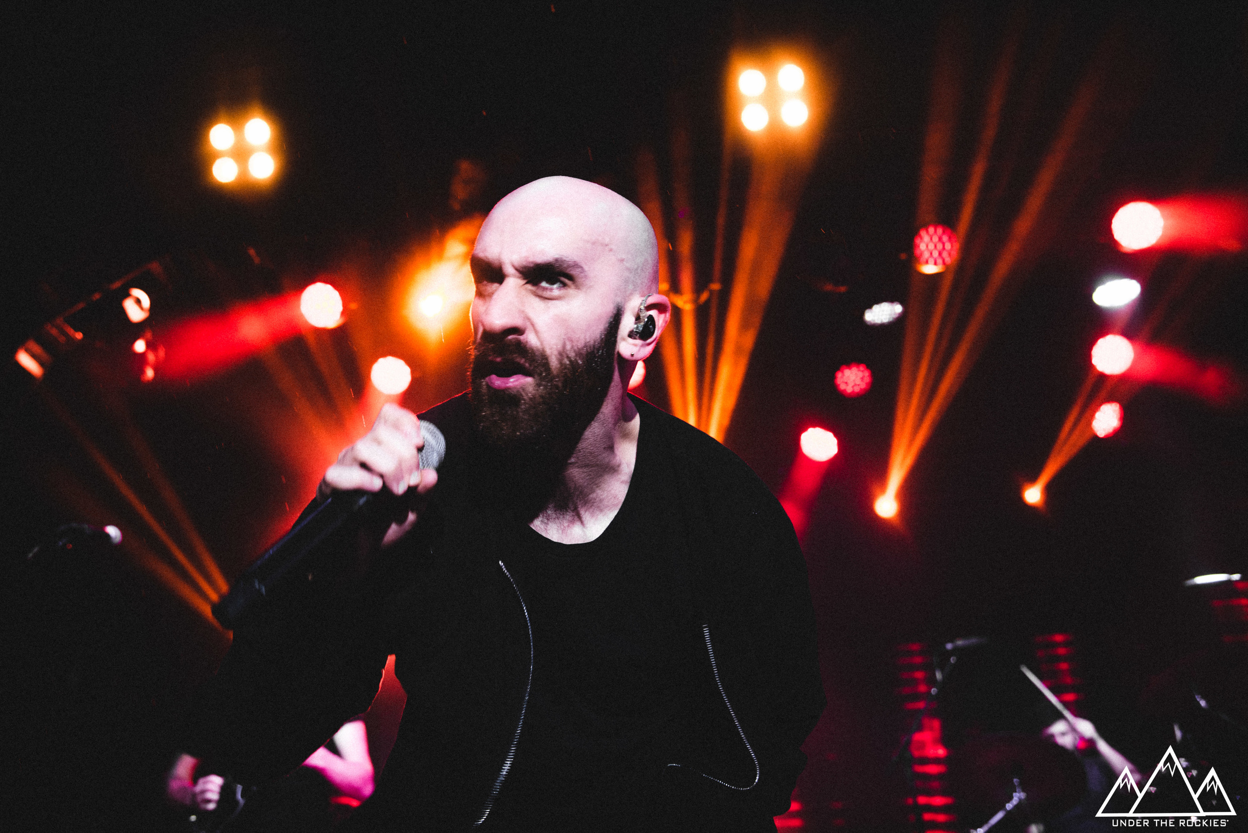 Sam Harris of X Ambassadors performing at the Coca-Cola Stage.