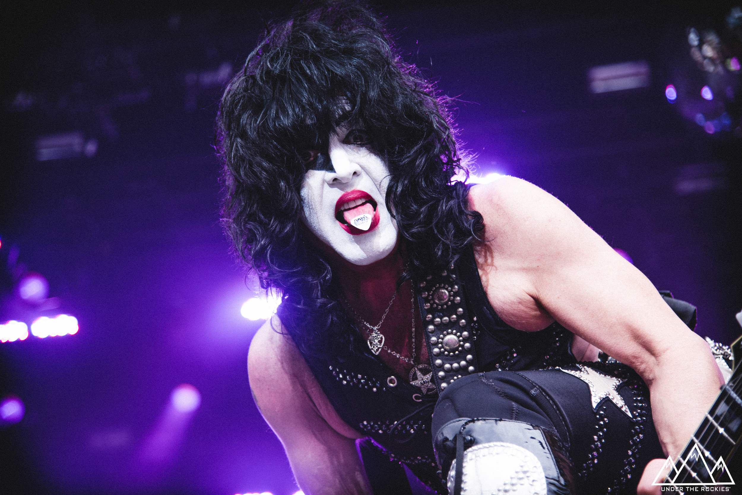 Paul Stanley of Kiss performing at the 2016 Stampede Roundup.