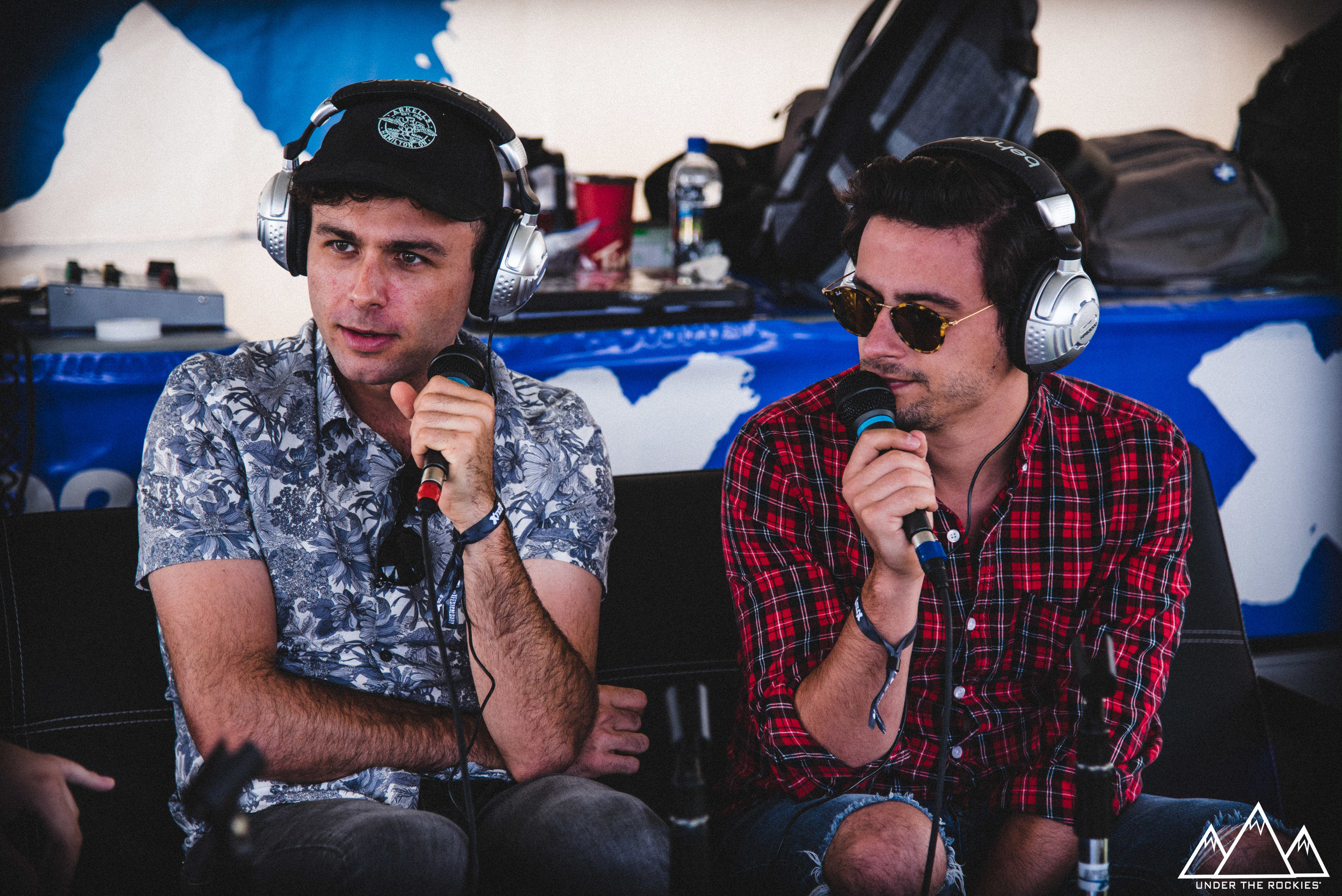 Max Kerman and Mike DeAngelis of Arkells on air with X929.