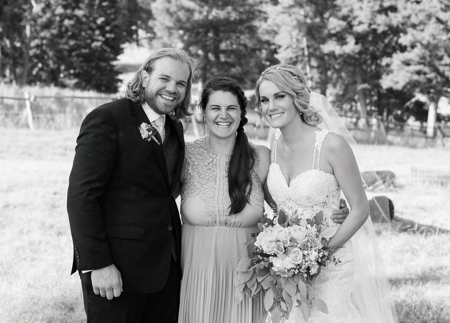 Big Sky Montana wedding at Lone Mountain Ranch photographer with bride and groom