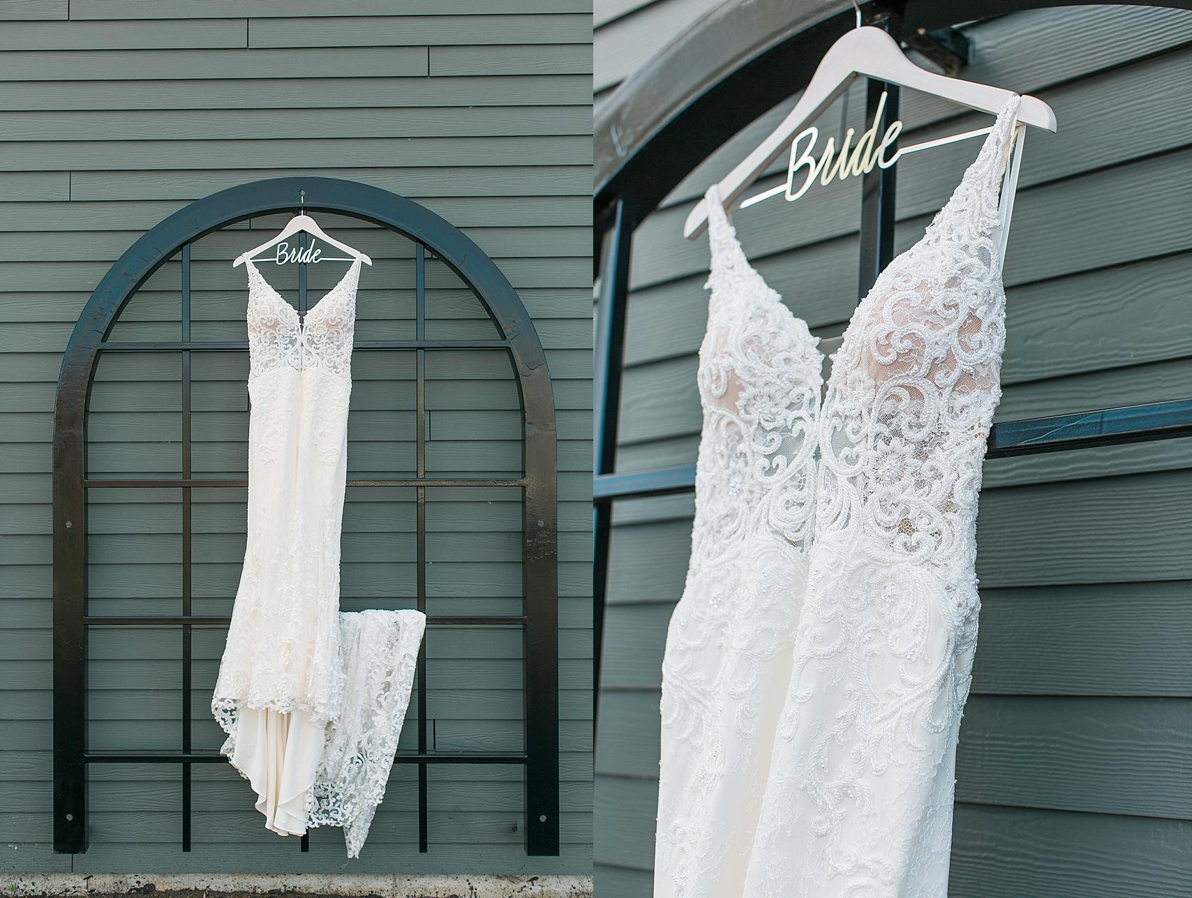 Wedding dress for wedding at the Chart House Summer Wedding Lakeville Minnesota Minneapolis Wedding Photographer Mallory Kiesow