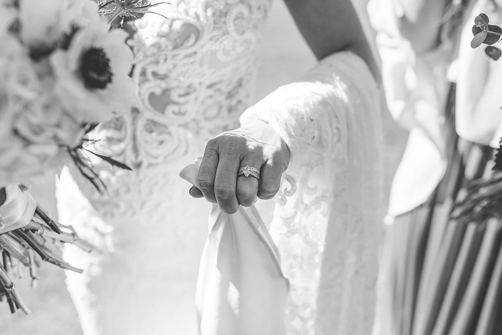 Bride's ring detail candid on wedding day at the Chart House Summer Wedding Lakeville Minnesota Minneapolis Wedding Photographer Mallory Kiesow