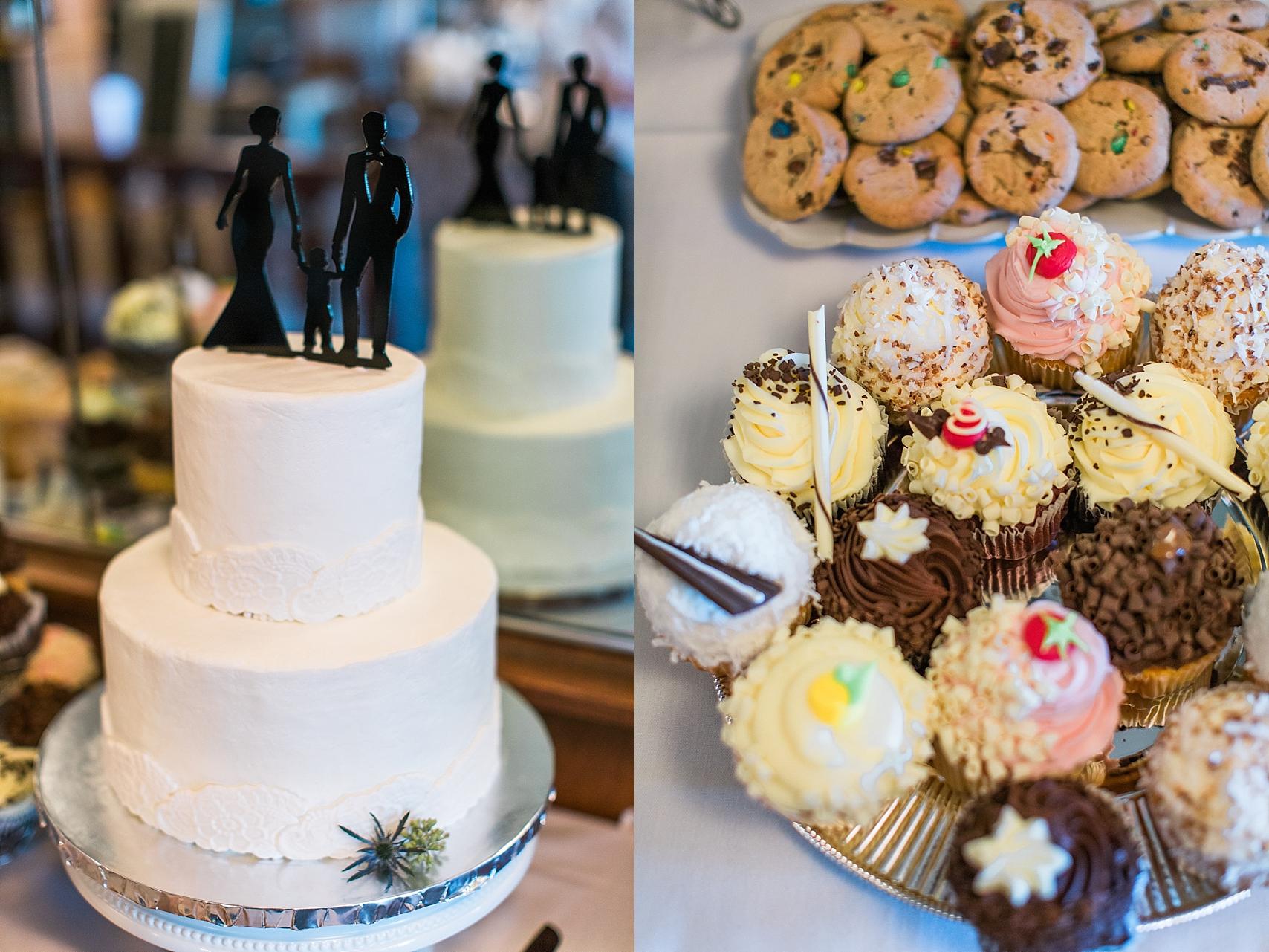 Reception space cake and dessert at the Chart House Summer Wedding Lakeville Minnesota Minneapolis Wedding Photographer Mallory Kiesow