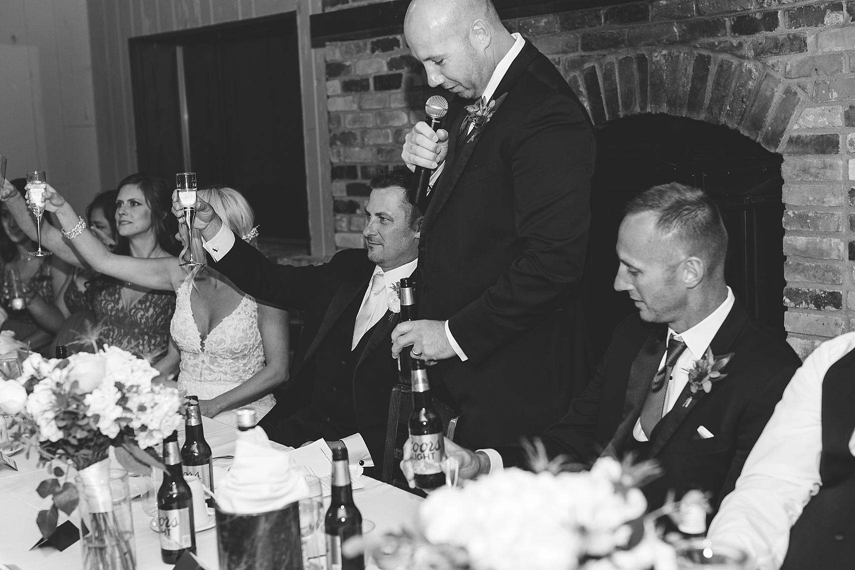 Best man speech at the Chart House Summer Wedding Lakeville Minnesota Minneapolis Wedding Photographer Mallory Kiesow
