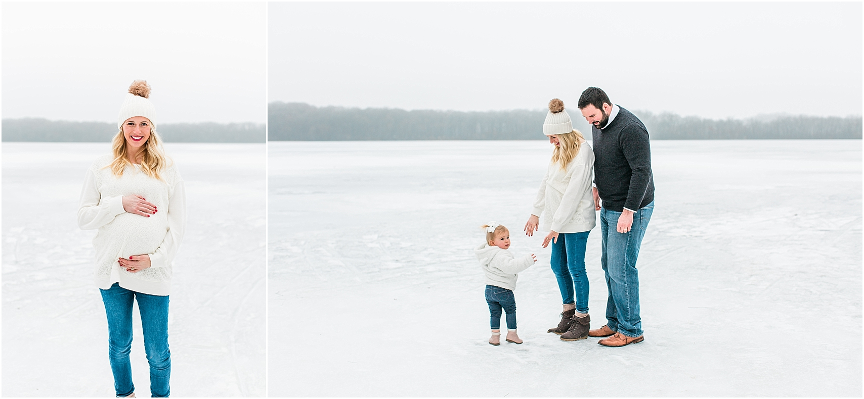 Minnesota winter maternity session Lake Ann Park Chanhassen photographed by Mallory Kiesow, Minnesota maternity photographer_003.jpg