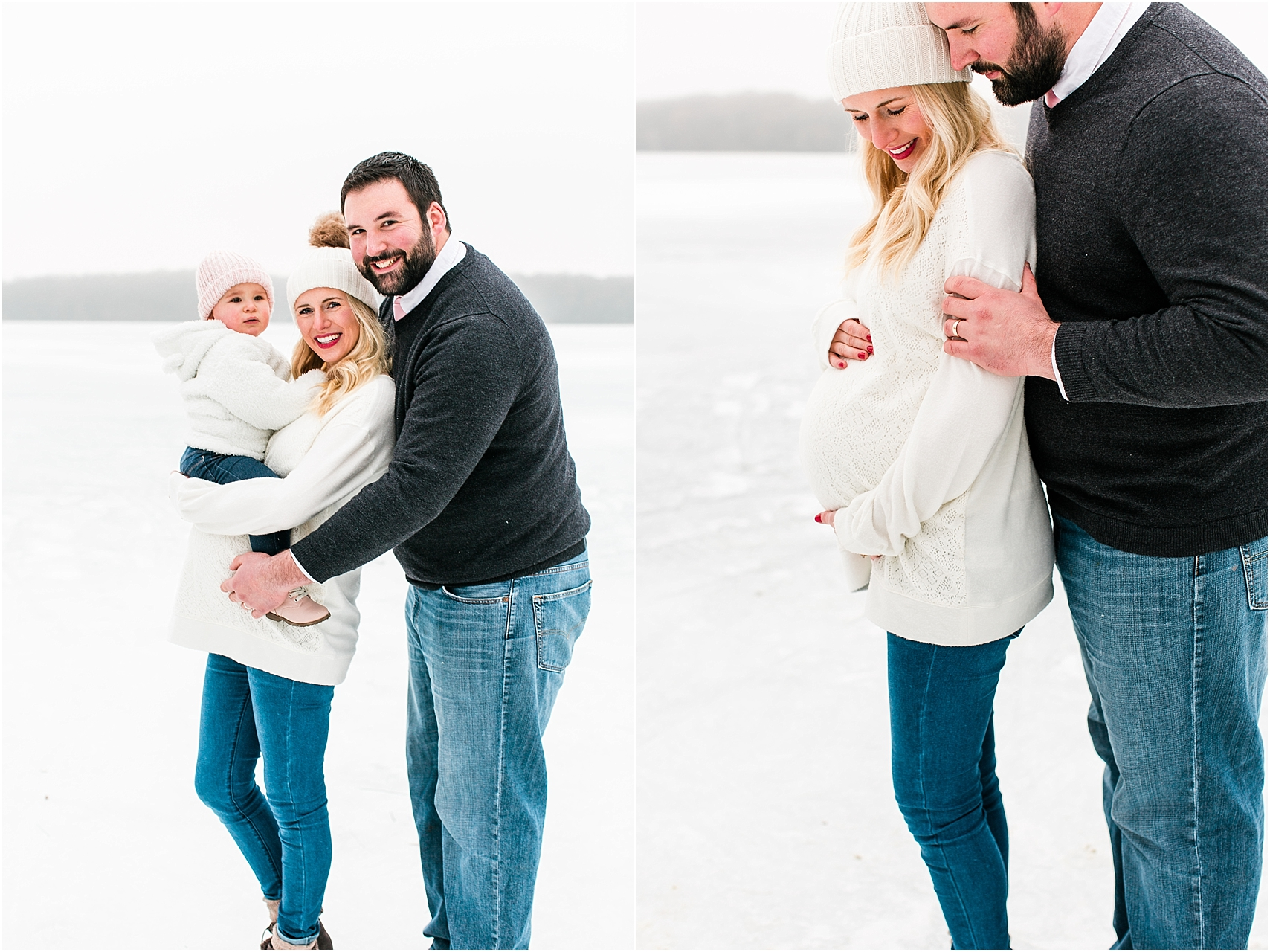 Minnesota winter maternity session Lake Ann Park Chanhassen photographed by Mallory Kiesow, Minnesota maternity photographer_005.jpg