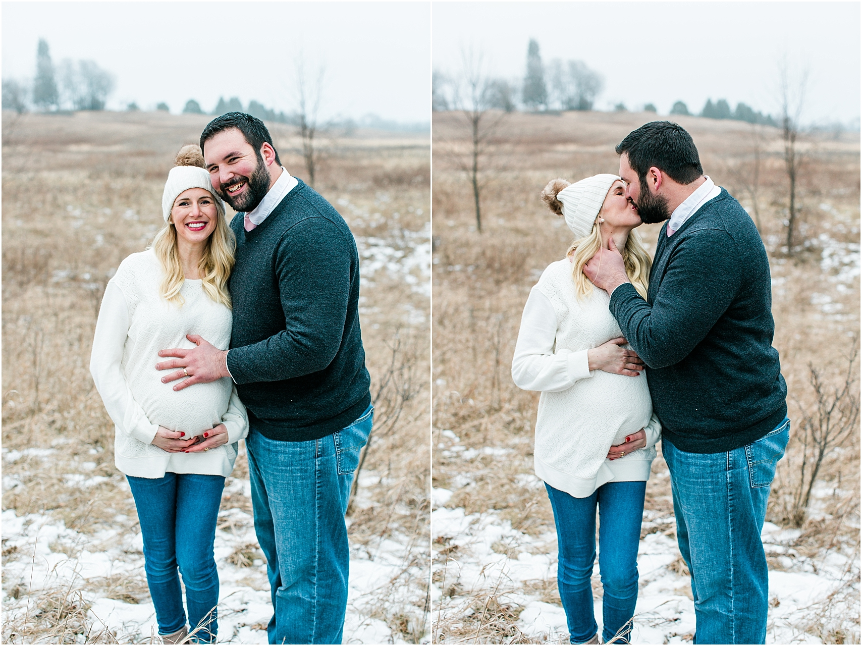 Minnesota winter maternity session Lake Ann Park Chanhassen photographed by Mallory Kiesow, Minnesota maternity photographer_013.jpg