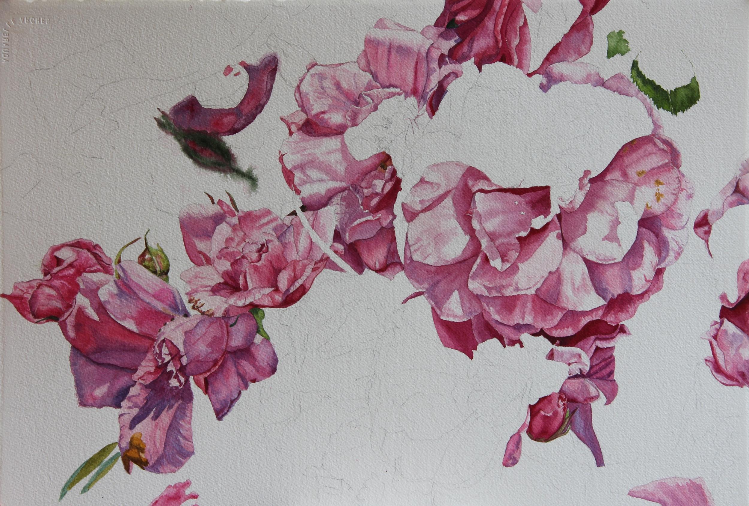 Pretty in Pink WIP by Helen Shideler