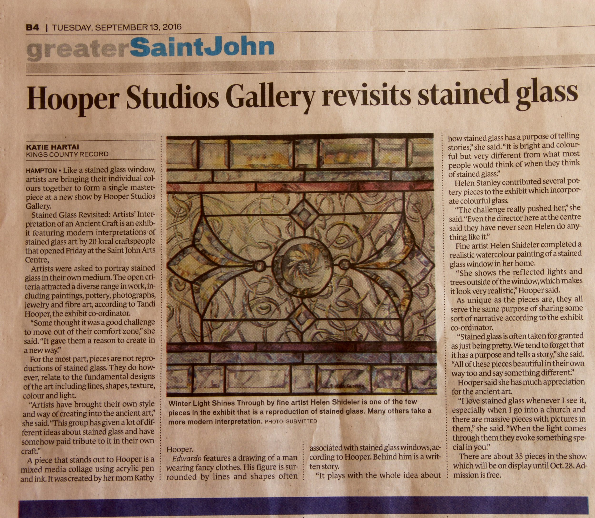 Article stained glass revisited