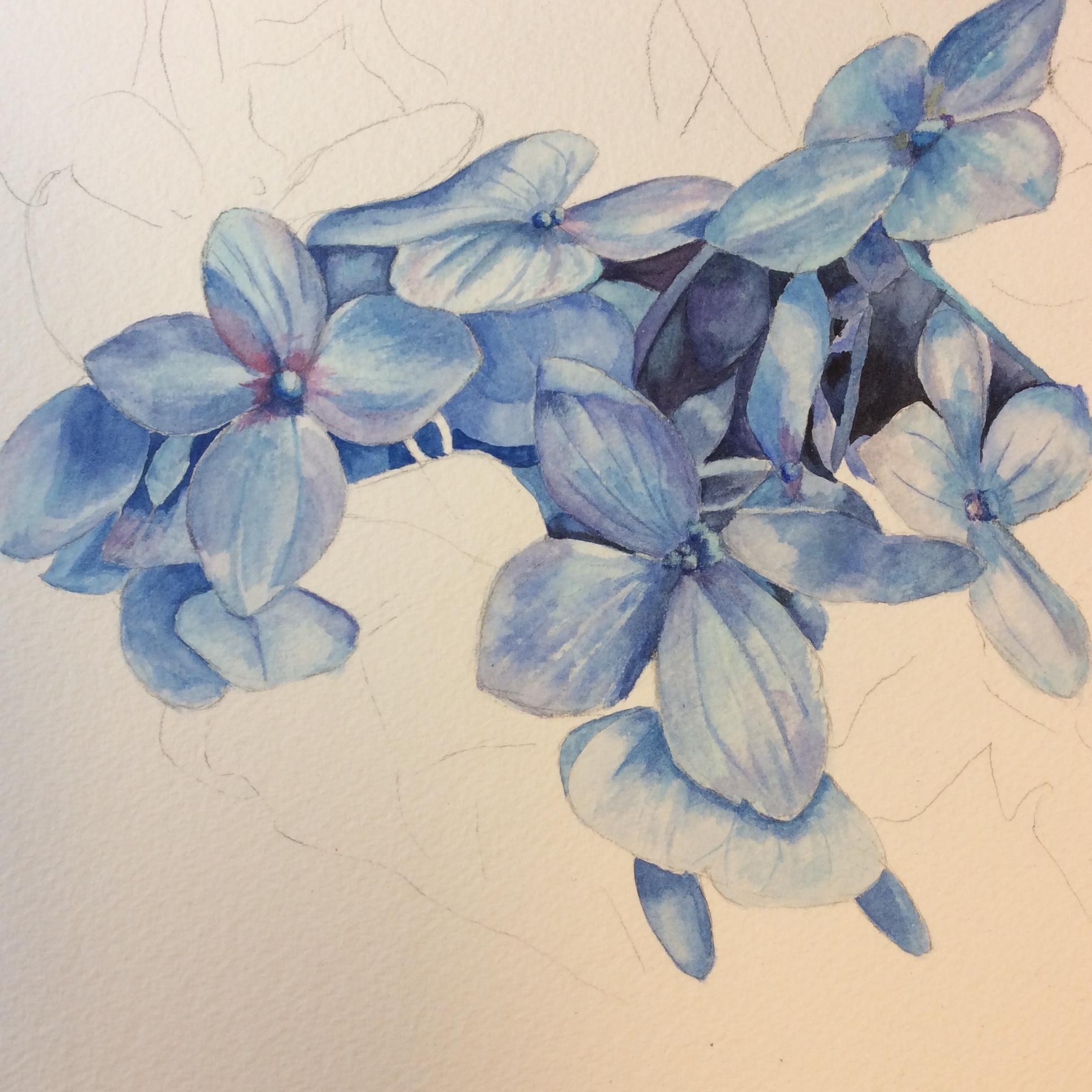 Amethyst Shades of Blue by Helen Shideler