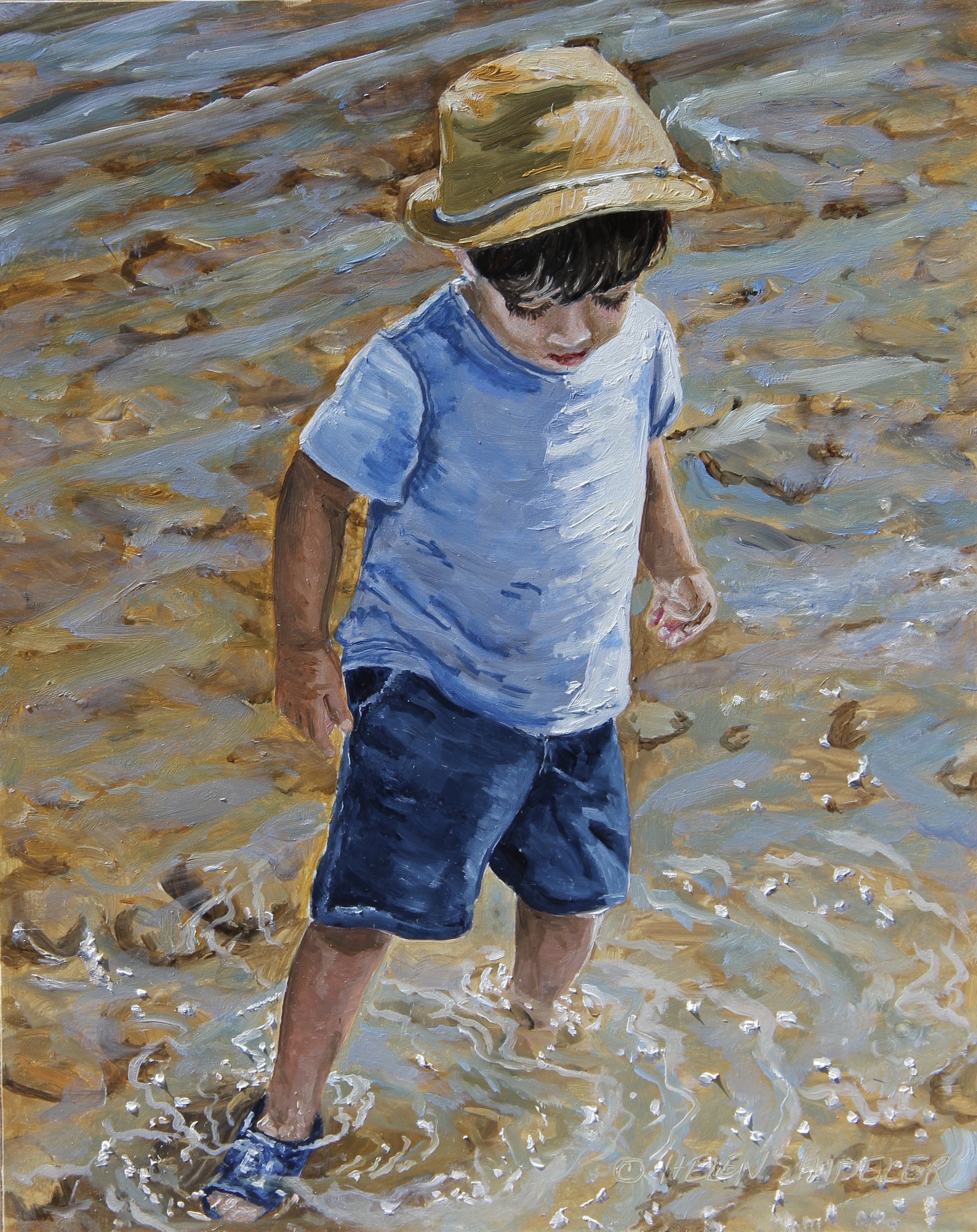 JUst Wading by Helen Shideler