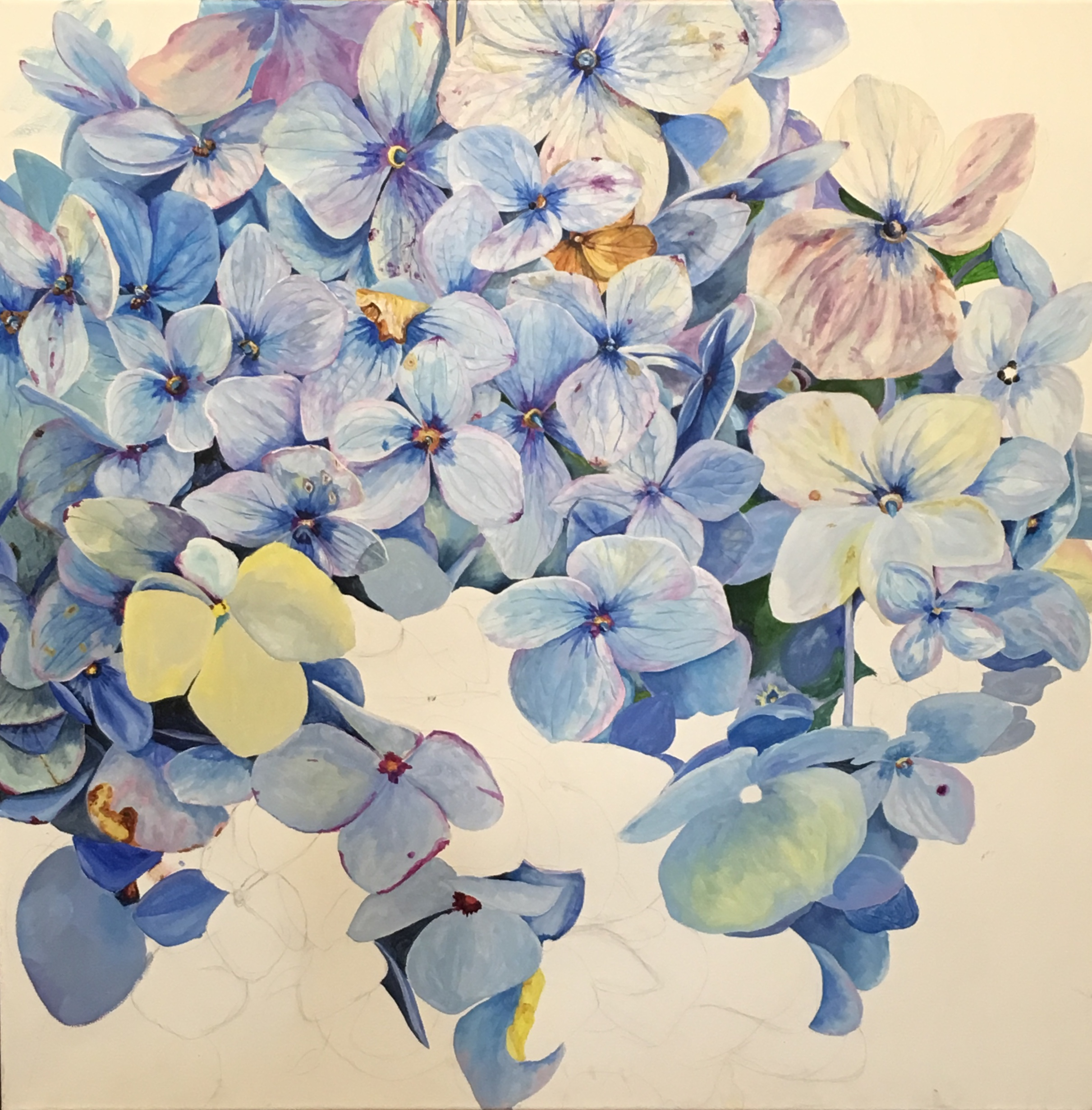 WIP Tender Blue by Helen Shideler
