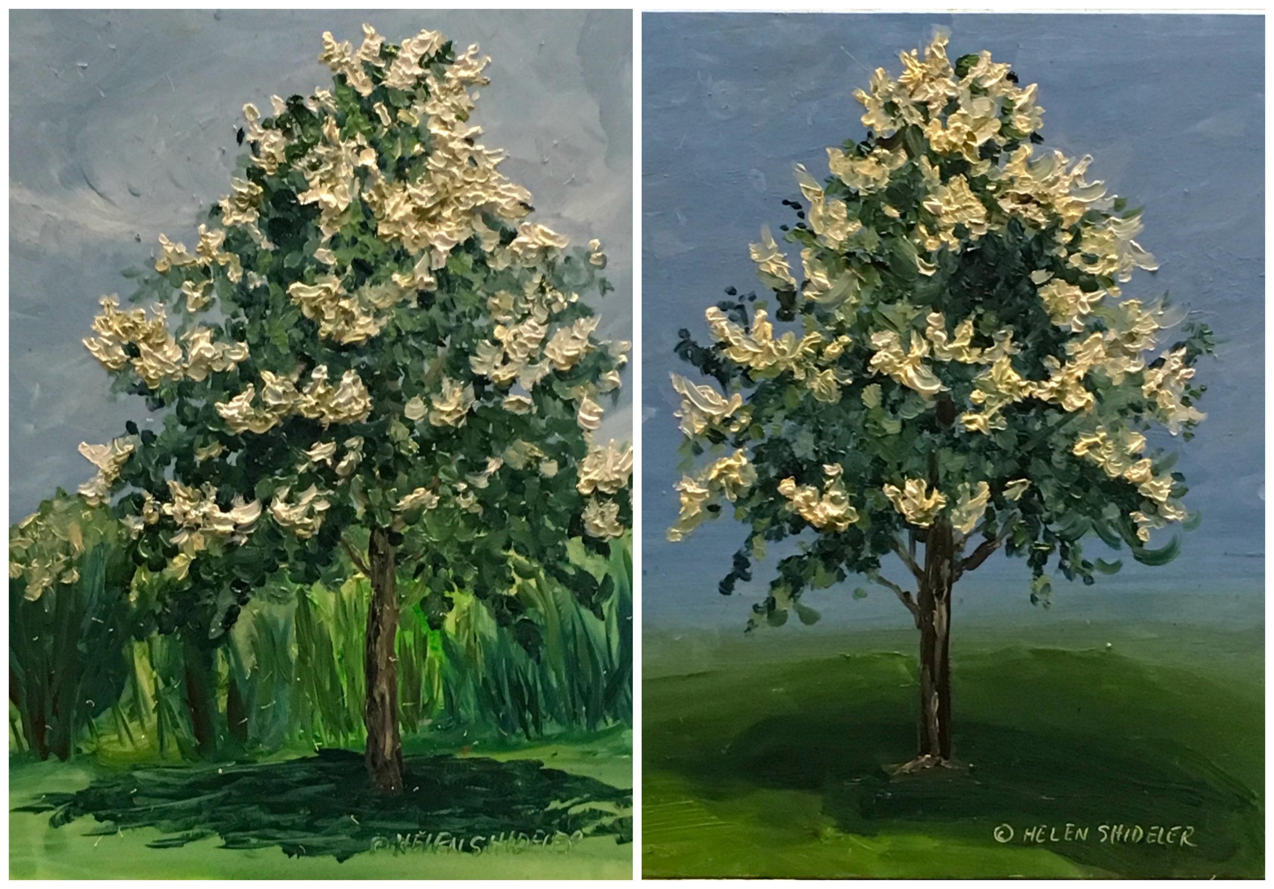 Backyard painting series by Shideler