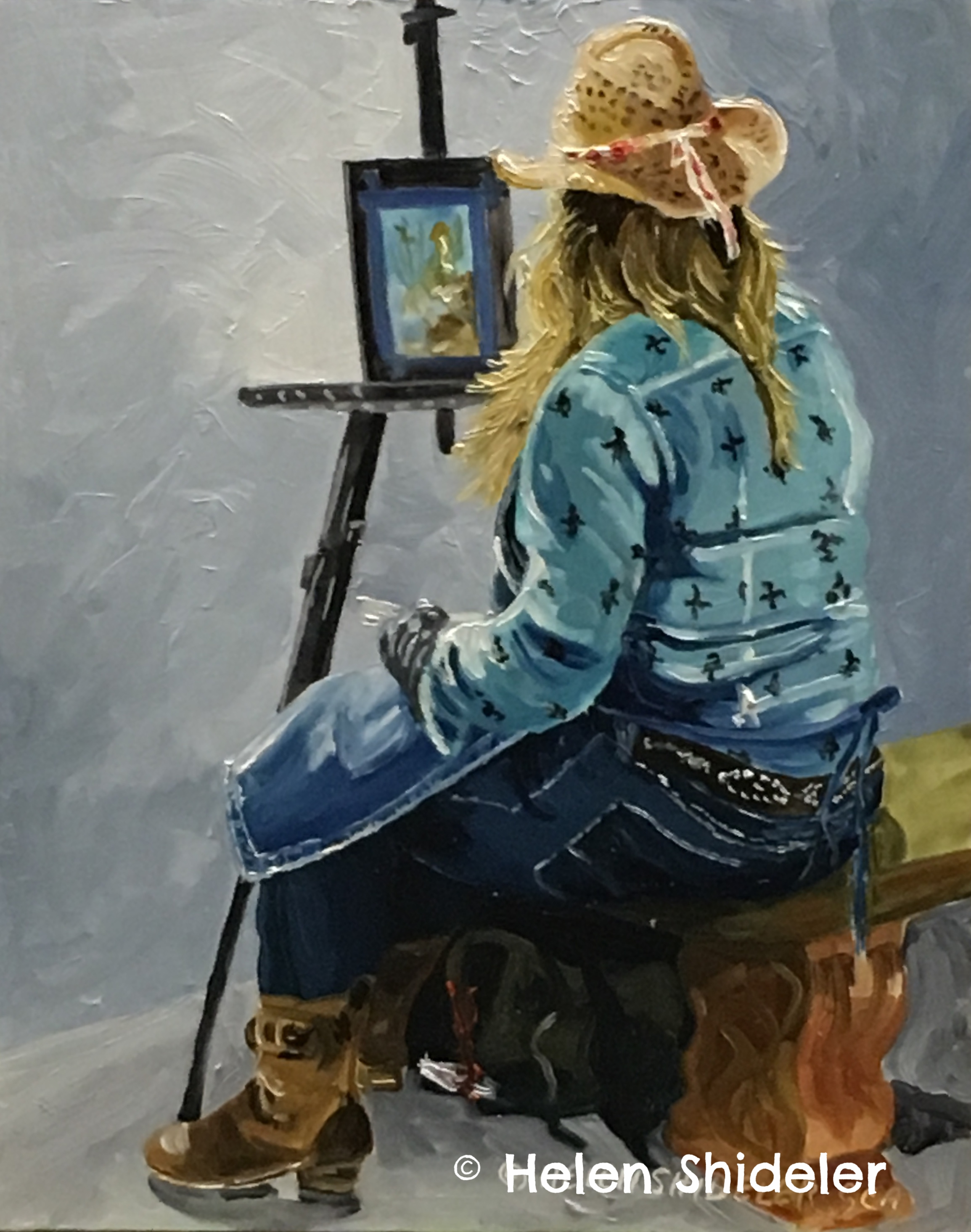 Painter Painting by Helen Shideler