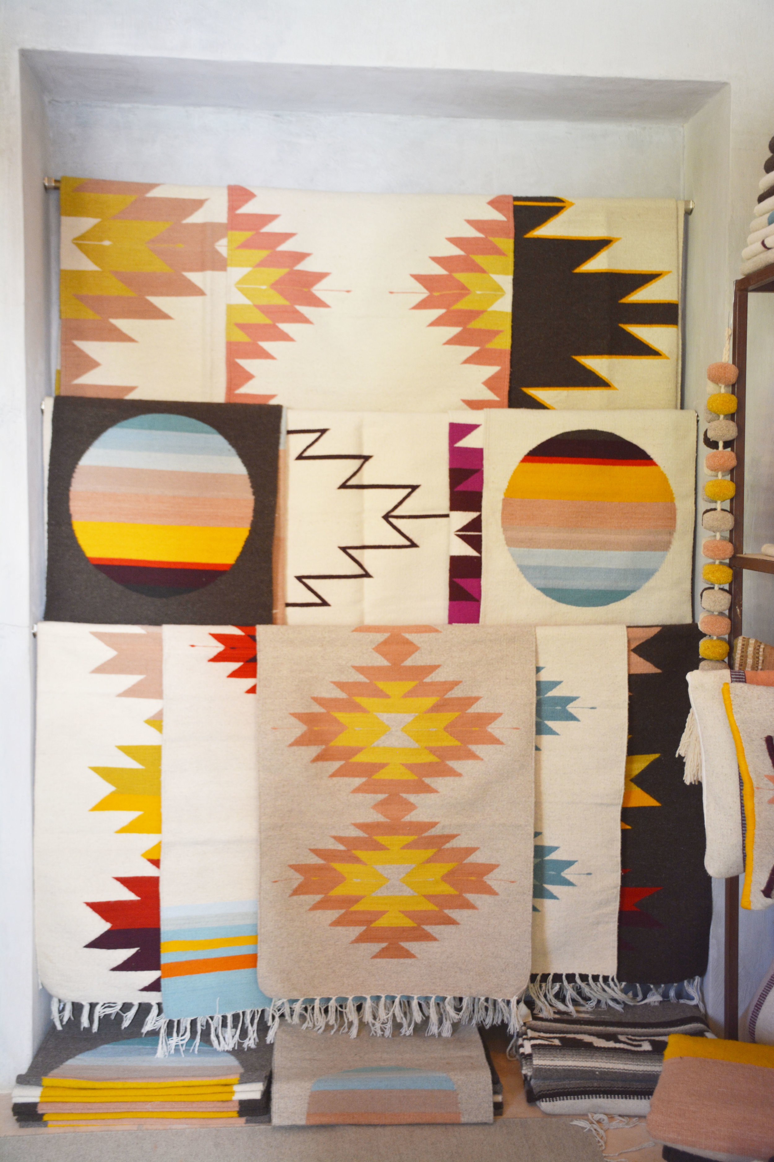 One-of-a-kind woven blankets at  Evoke