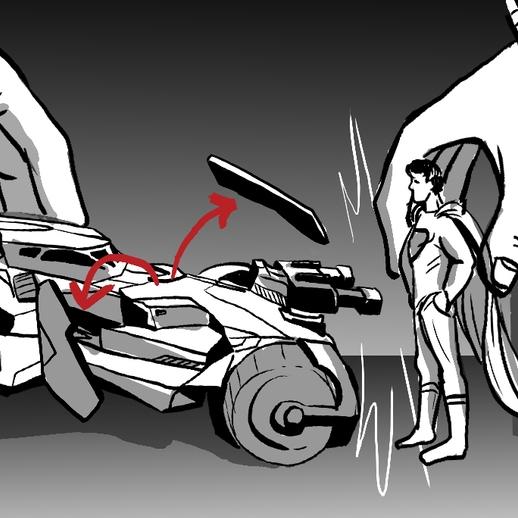 Mattel - Epic Strike Batmobile