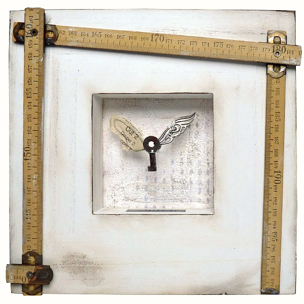 Imperfect: Mixed media assemblage on wood and plaster