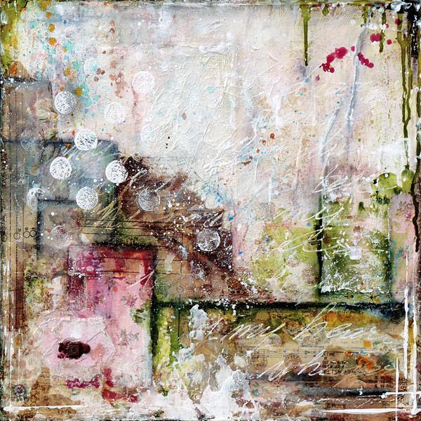 Dear diary: mixed media painting on wood