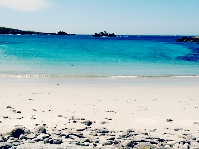 Plage Brest sable blanc mer bleu turquoise