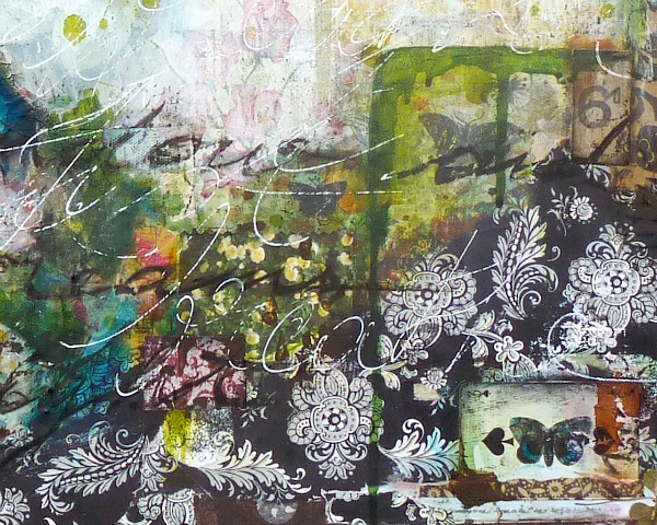 Just Breathe, mixed media painting on canvas © 2014 Laly Mille