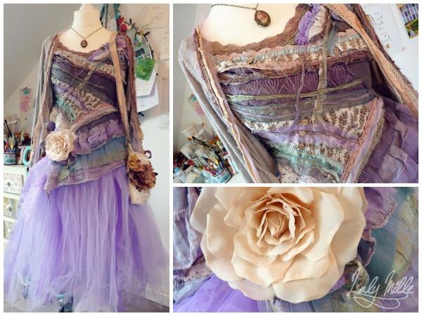 Robe de fée recyclée avec tutu violet © 2014 Laly Mille