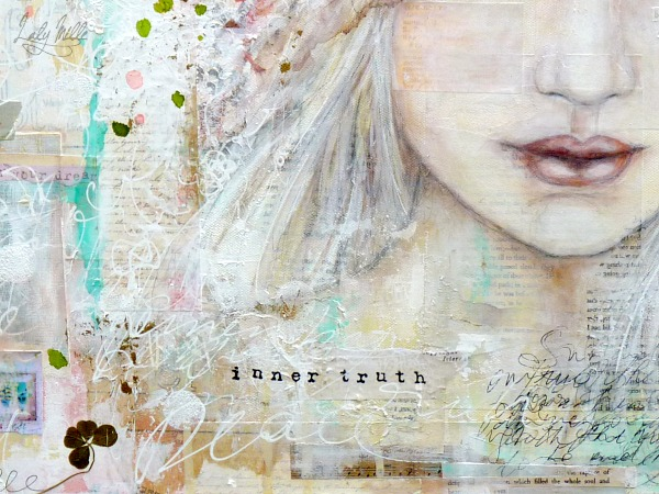 Inner truth - Mixed media painting on canvas © 2014 Laly Mille