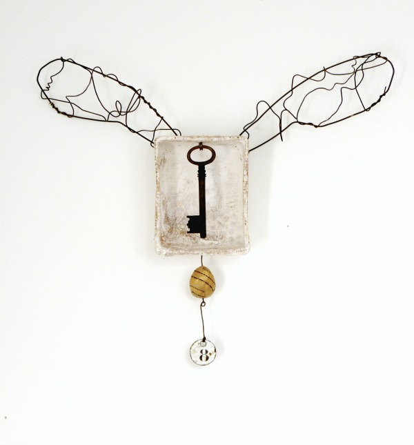 Hypothesis : mixed media assemblage by Laly Mille