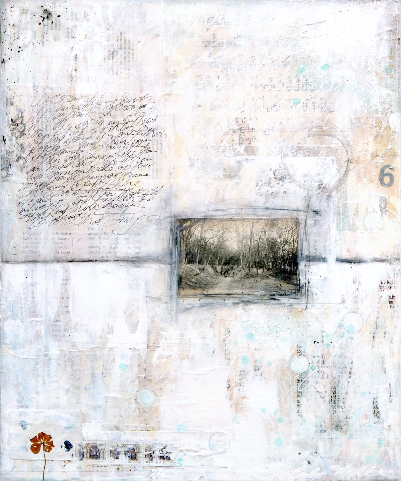 Winter song 2 : mixed media painting by Laly Mille