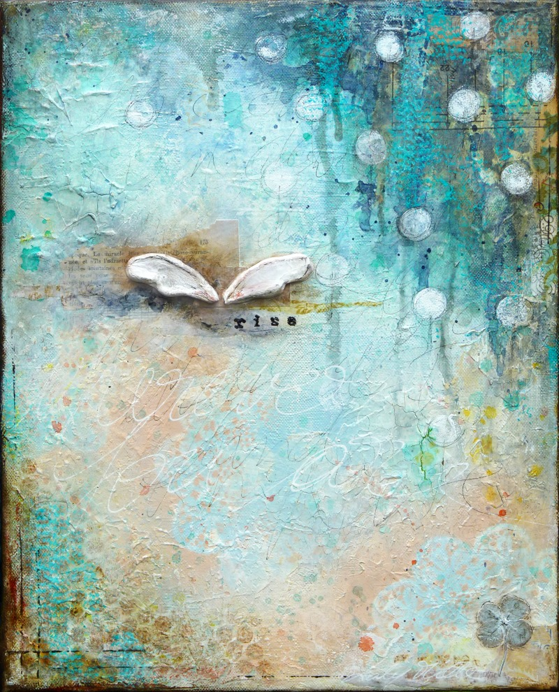 Rise : mixed media painting by Laly Mille