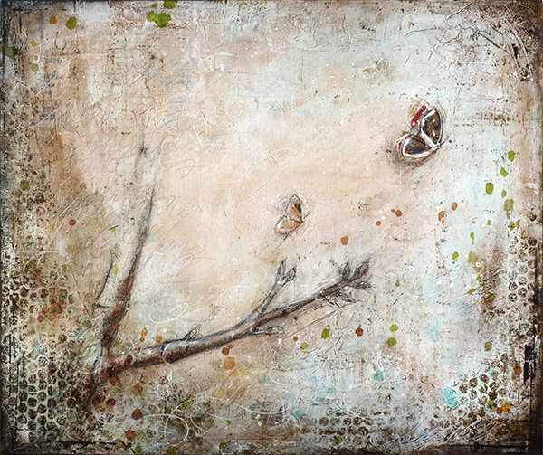elusion : mixed media painting by Laly Mille