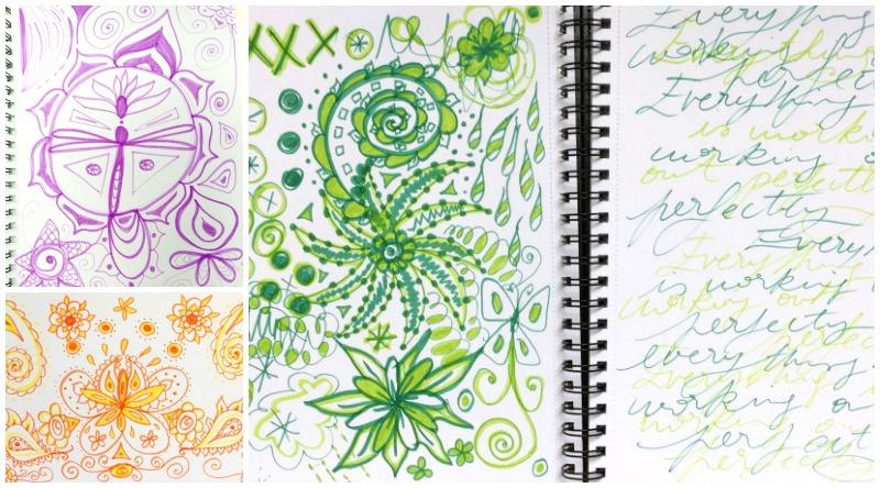 One color doodle pages