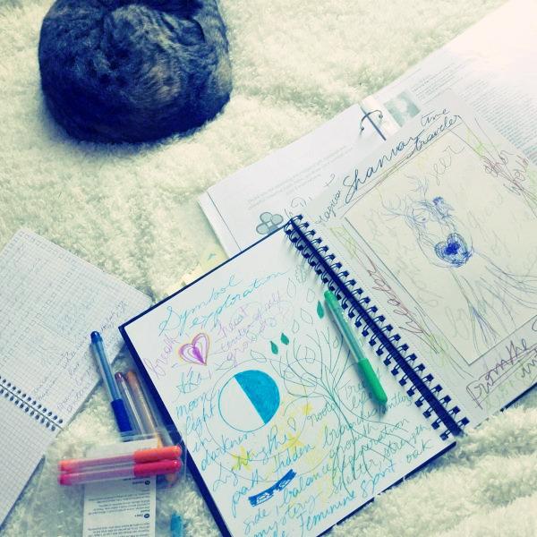 Sacred symbol journaling