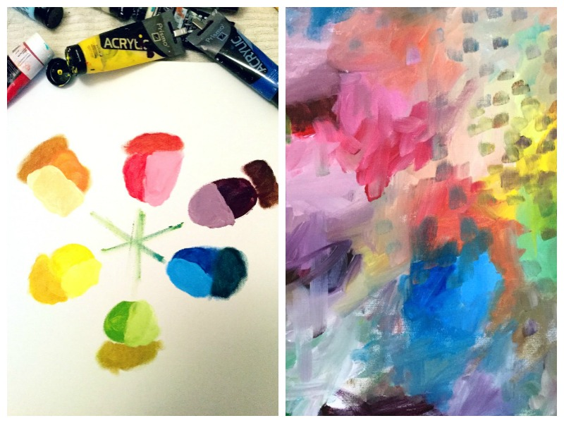 Color wheel and a first layer: just playing with colors!