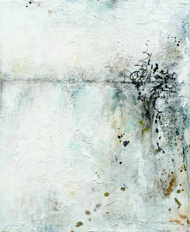 "© 2015 Laly Mille ""A memory"" - Abstract mixed media painting on canvas"