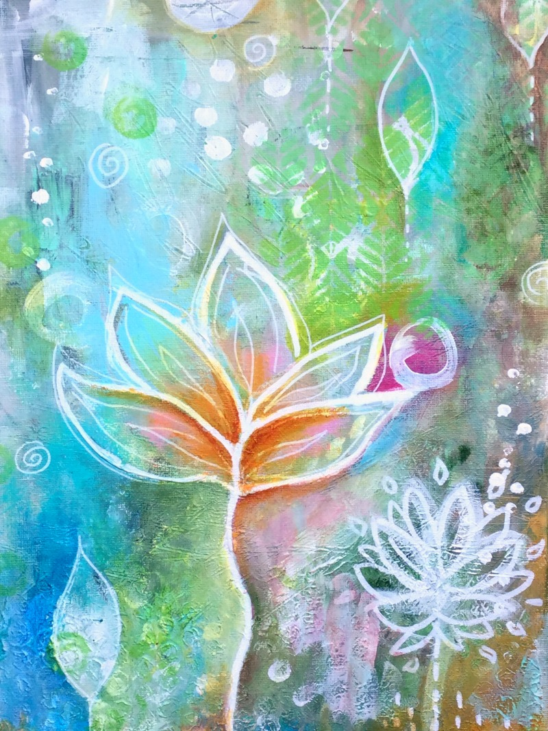 In order to bloom, the lotus grows its roots deep in the muddy waters...