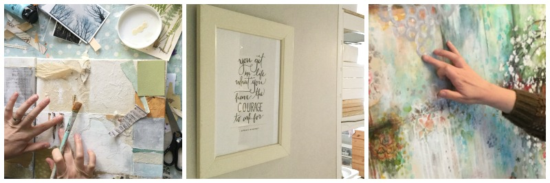 """""""You get in life what you have the COURAGE to ask for""""... This quote greets me and boosts my courage every time I enter the studio."""